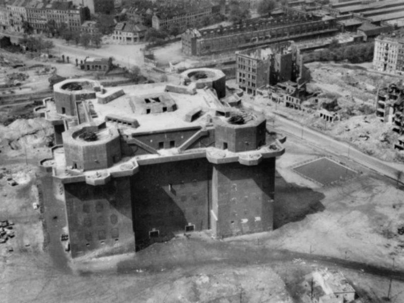 Bunker St.Pauli Luftaufnahme 1945