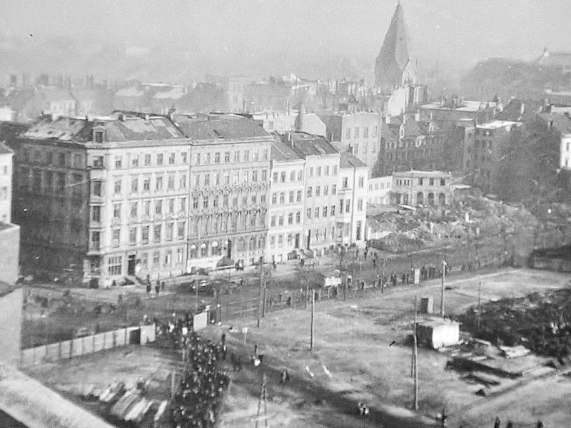 Blick vom Bunker St.Pauli aus 1945